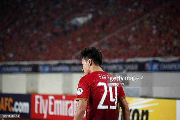 Gao Lin of Guangzhou Evergrande during the AFC Champions League Semi Final Second Round match between Guangzhou Evergrande and Kashiwa Reysol at the...