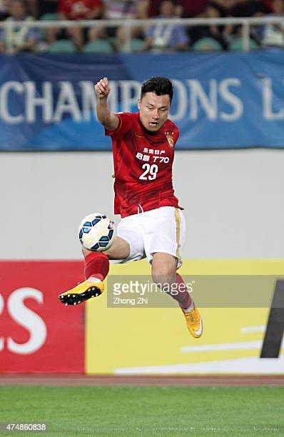 Gao Lin of Guangzhou Evergrande in action during the AFC Asian Champions League Round of 16 2nd leg match between Guangzhou Guangzhou Evergrande and...