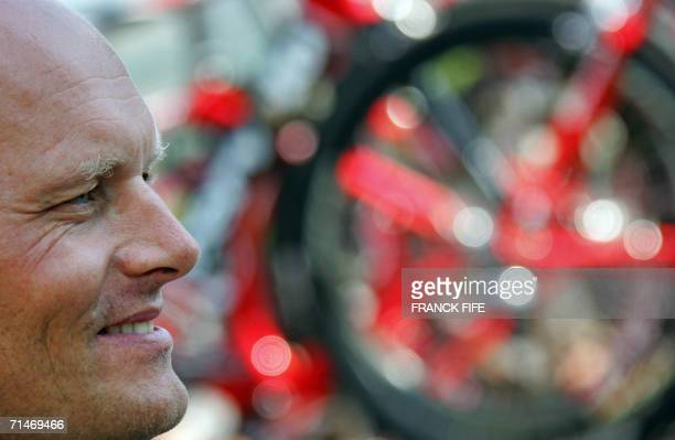 Portrait of Danish CSC Team Manager Bjarne Riis taken before the start of the 187 km fifteenth stage of the 93rd Tour de France cycling race from Gap...