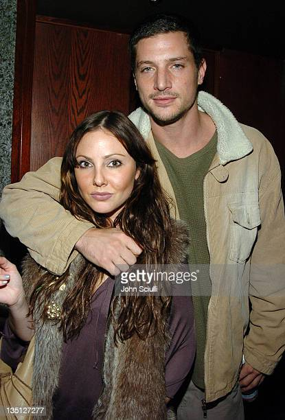 Gara Gambucci and Simon Rex during Jeniffer Goldman Jenine Leigh and Lauren Sanchez Birthday Bash at The Lounge in Los Angeles California United...