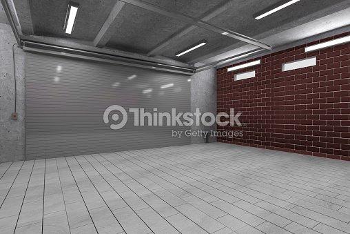 Garage int rieur 3d avec fermeture porte rouleau photo for Interieur garage