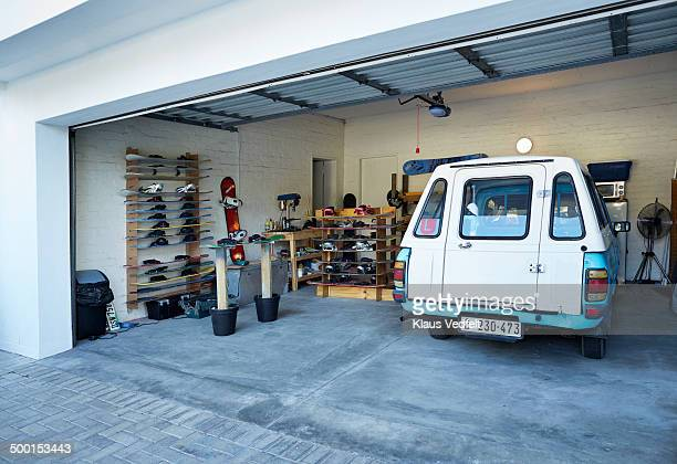 Garage and sandboard workshop