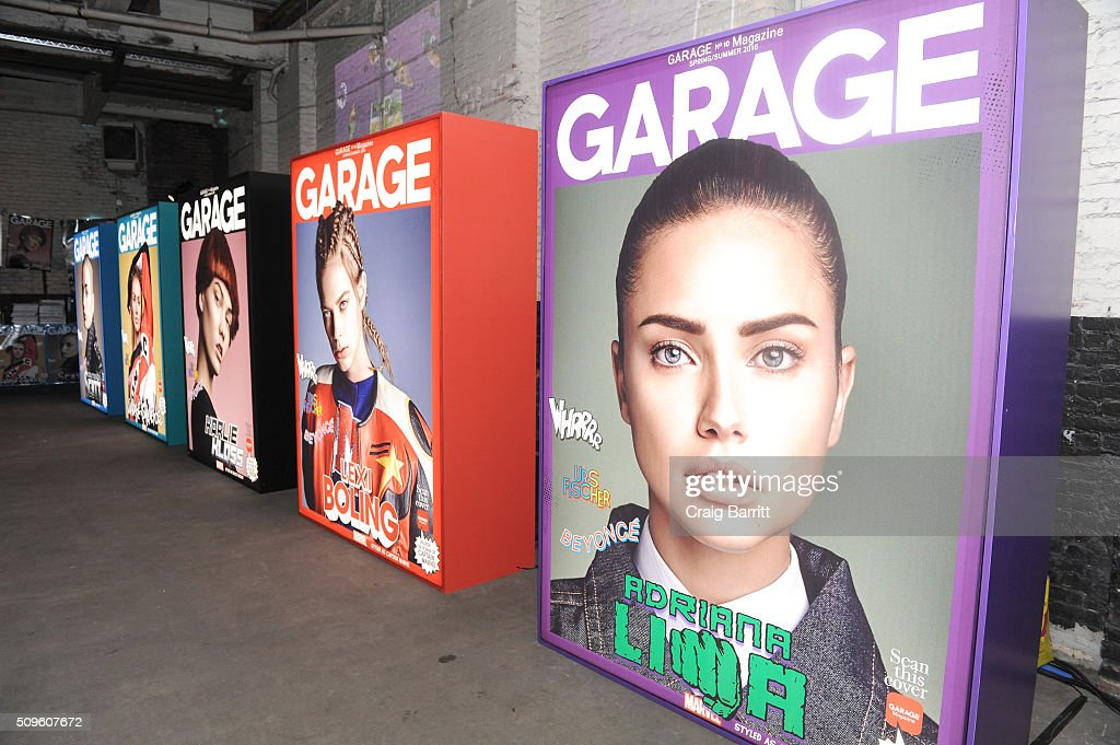Garage Magazine on display during the Marvel and Garage Magazine New York Fashion Week Event on February 11, 2016 in New York City.