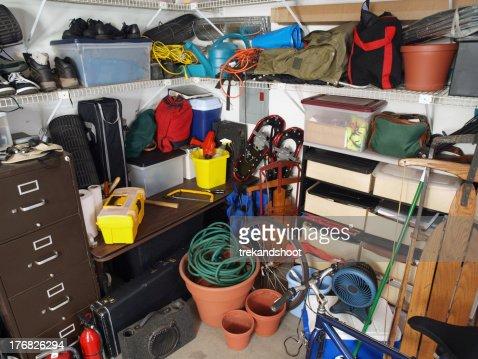 Garage Mess : Stock Photo