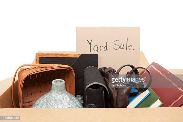 Garage Sale: Cardboard Box of Household Items