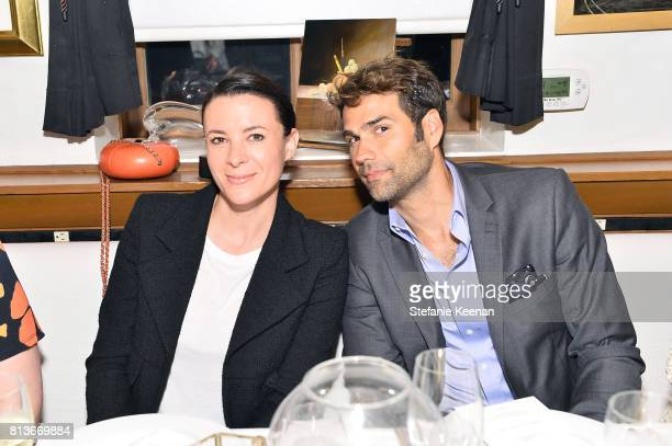 Garance Dore and Chris Norton at CHANEL Dinner Celebrating Lucia Pica The Travel Diary Makeup Collection on July 12 2017 in Los Angeles California