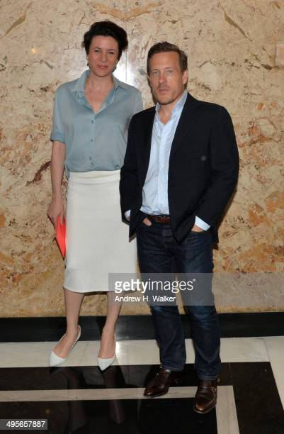 Garance Dore and photographer Scott Schuman attend the Gucci beauty launch event hosted by Frida Giannini on June 4 2014 in New York City