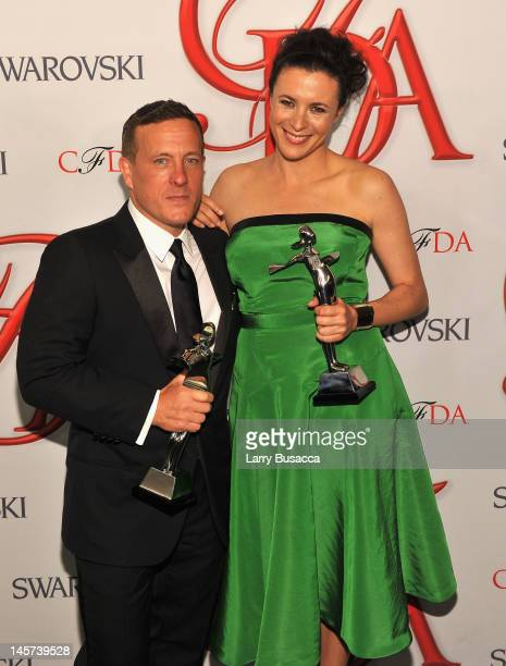 Garance Dore and Scott Schuman attends the 2012 CFDA Fashion Awards at Alice Tully Hall on June 4 2012 in New York City