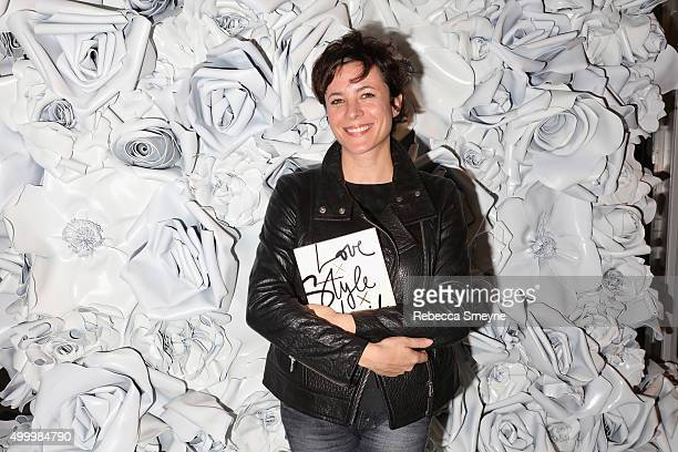 Garance Dore attends a cocktail party to celebrate the launch of Garance Dore's book 'Love X Style X Life' at the Club Monaco boutique on December 4...