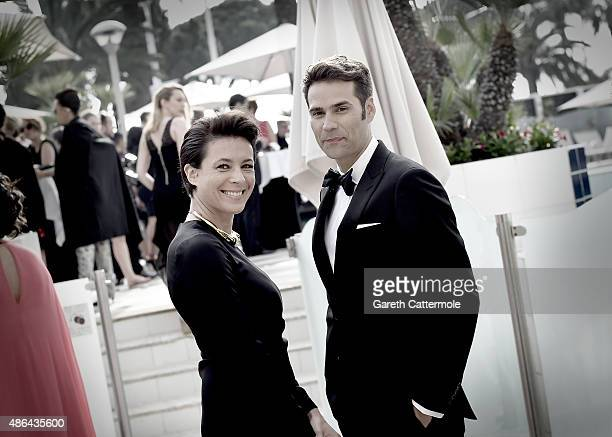 Garance Dore departs the Martinez Hotel during the 68th annual Cannes Film Festival on May 14 2015 in Cannes France