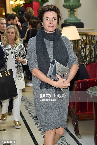 Garance Dore is seen arriving at Balmain Fashion Show during the Paris Fashion Week Ready To Wear S/S 2016 Day Three on October 1 2015 in Paris France