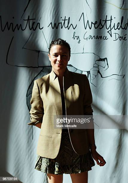 Garance Dore poses for a portrait whilst attending the Garance Dore Winter With Westfield Designer Installation launch at Westfield Bondi Junction on...