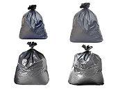 garbage bag on white backgrounds