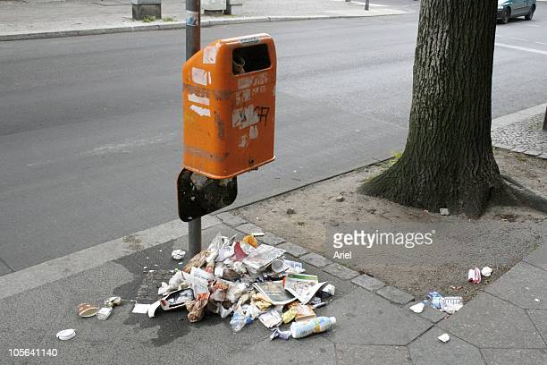 Rubbish road stock photos and pictures getty images - Rd rubbish bin ...