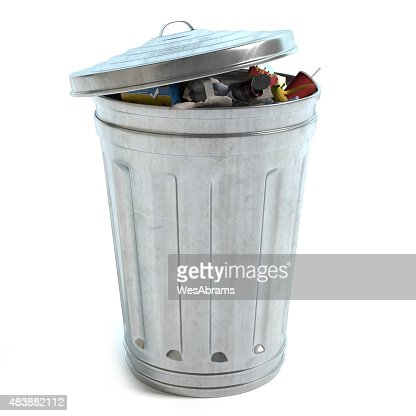 Garbage Can Full : Stock Photo