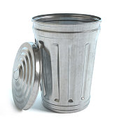 3d illustration of a garbage can