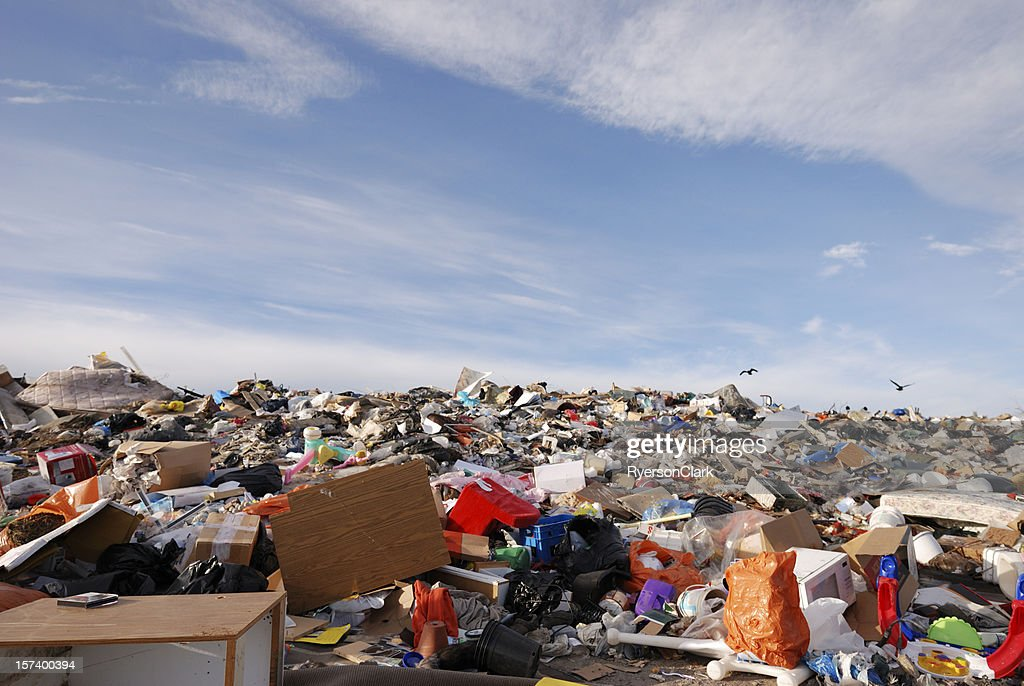 Garbage Dump in Canada's Arctic City Yellowknife. : Stock Photo