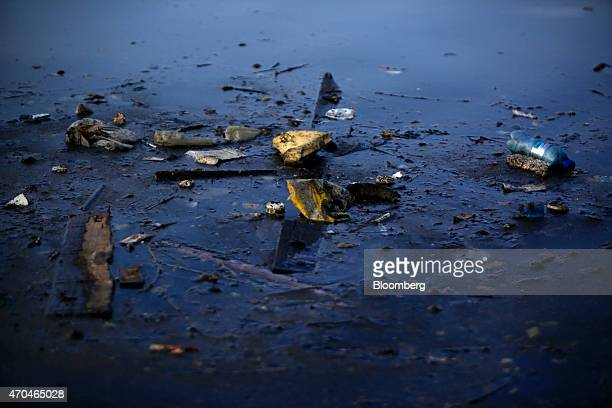 Garbage floats near Fundao Island in Guanabara Bay in Rio de Janeiro Brazil on Friday April 17 2015 Guanabara Bay was once rich in diverse aquatic...