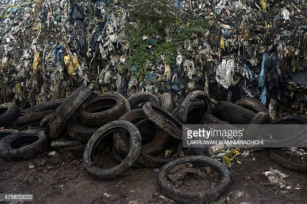 Garbage lies in a rubbish tip at Kathirana on the outskirts of the Sri Lankan capital Colombo on June 4 on the eve of World Environment Day Sri Lanka...