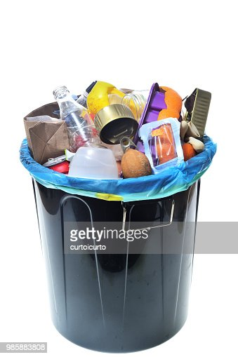 garbage on white background : Stock Photo