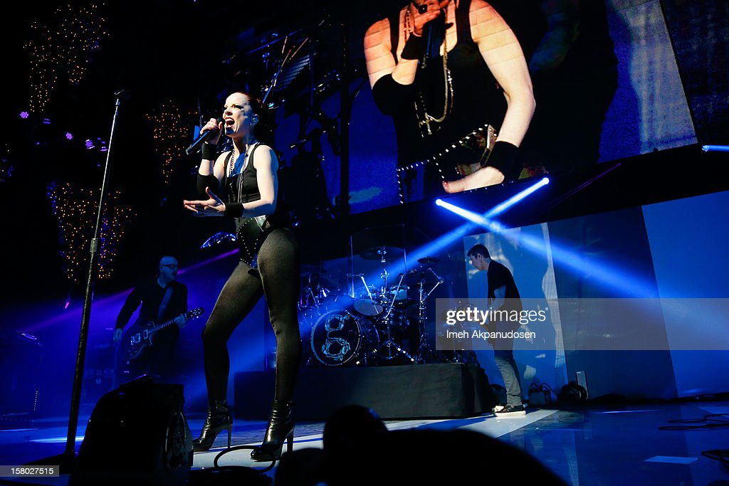 Garbage performs at the 23rd Annual KROQ Almost Acoustic Christmas at Gibson Amphitheatre on December 8, 2012 in Universal City, California.