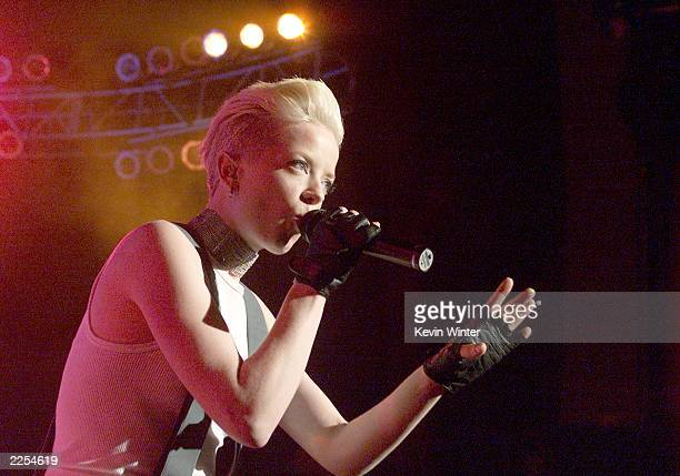 Garbage with singer Shirley Manson performed at Star 987's 'Not So Silent Night' at the Shrine Auditorium in Los Angeles Ca Thursday December 13 2001...
