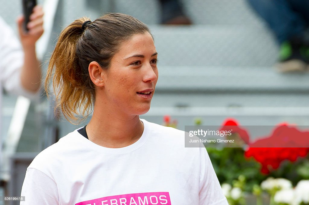Garbine Muguruza attends Charity day tournament during Mutua Madrid Open at Caja magica on April 29, 2016 in Madrid, Spain.