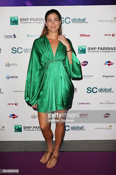 Garbine Muguruza attends Singapore Tennis Evening during BNP Paribas WTA Finals at Marina Bay Sands on October 30 2015 in Singapore