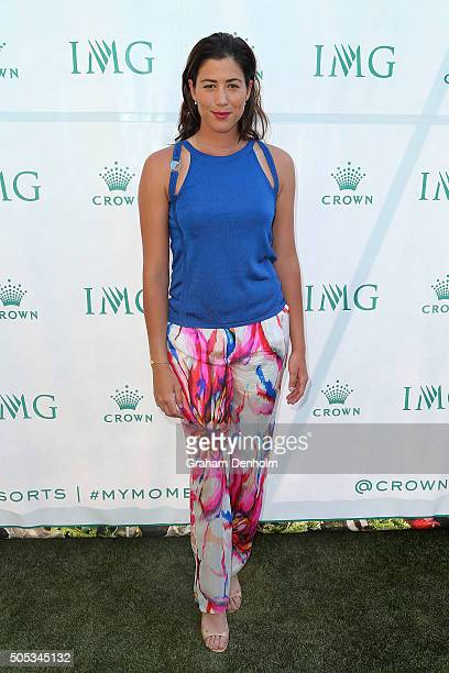 Garbine Muguruza of Spain arrives at the 2016 Australian Open party at Crown Entertainment Complex on January 17 2016 in Melbourne Australia