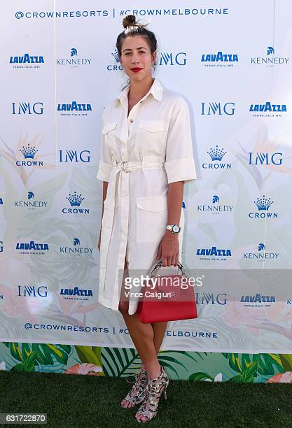 Garbine Muguruza of Spain arrives at the 2017 Australian Open party at Crown on January 15 2017 in Melbourne Australia