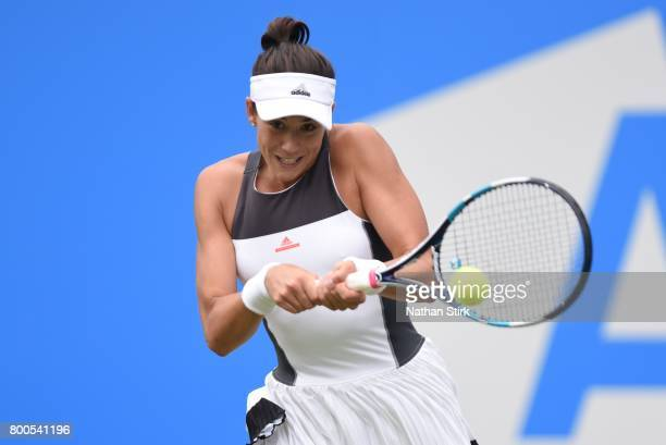 Garbine Muguruza of Spain in action during the semi final match against Ashleigh Barty of Australia on day six of The Aegon Classic Birmingham at...