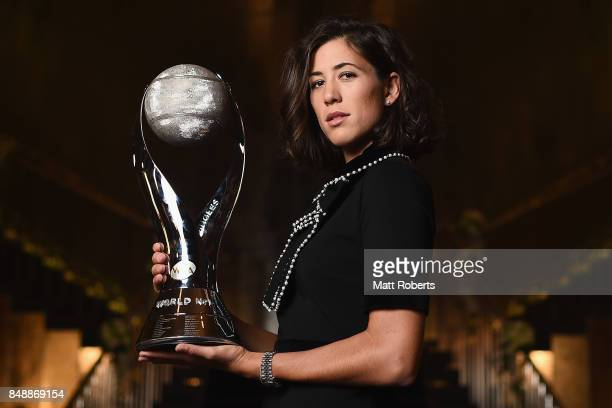 Garbine Muguruza of Spain poses for a portrait during day one of the Toray Pan Pacific Open Tennis at Grand Nikko Hotel on September 18 2017 in Tokyo...