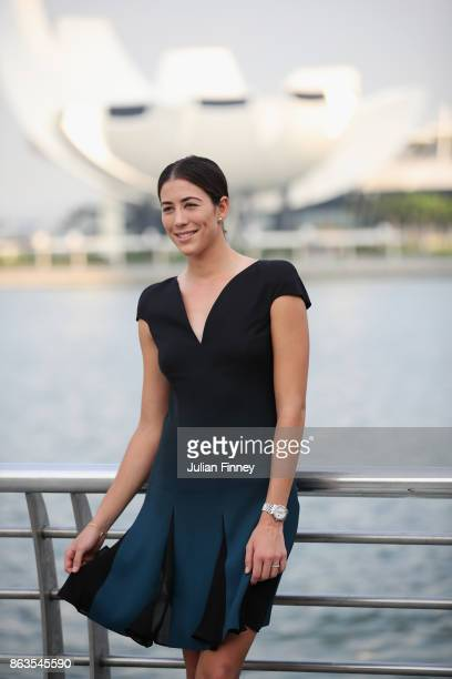 Garbine Muguruza of Spain poses prior to the BNP Paribas WTA Finals Singapore presented by SC Global on October 20 2017 in Singapore