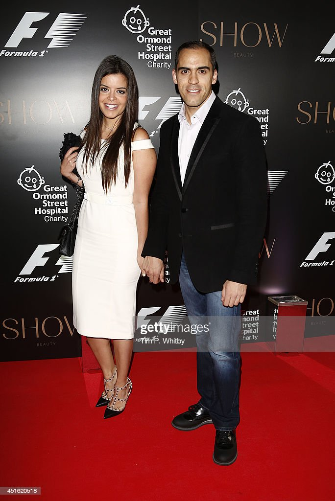 Garbriella Tarkany and <a gi-track='captionPersonalityLinkClicked' href=/galleries/search?phrase=Pastor+Maldonado&family=editorial&specificpeople=4842574 ng-click='$event.stopPropagation()'>Pastor Maldonado</a> attend The F1 Party in aid of the Great Ormond Street Children's Hospital at Victoria and Albert Museum on July 2, 2014 in London, England.