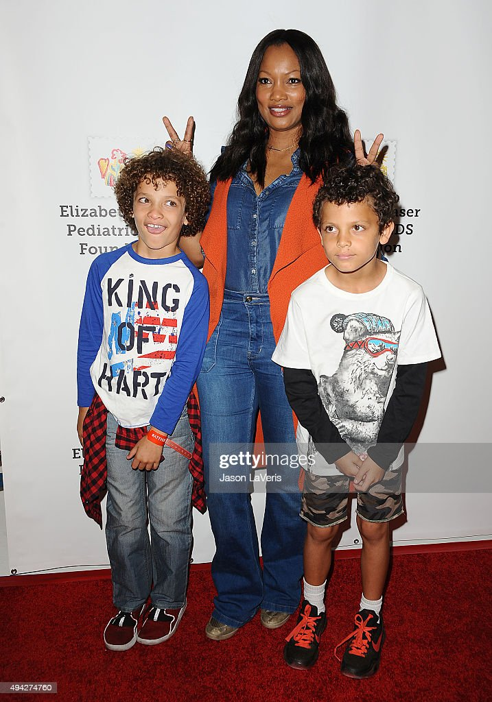 Garcelle Beauvais and sons Jax Nilon and Jaid Nilon attend the Elizabeth Glaser Pediatric AIDS Foundation's 26th A Time For Heroes family festival at...