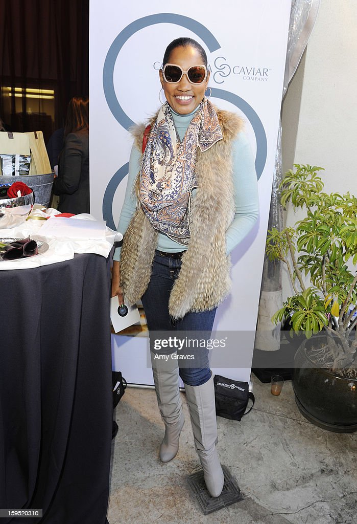 <a gi-track='captionPersonalityLinkClicked' href=/galleries/search?phrase=Garcelle+Beauvais&family=editorial&specificpeople=203112 ng-click='$event.stopPropagation()'>Garcelle Beauvais</a> attends GBK's Luxury Lounge during Golden Globe weekend day 2 at L'Ermitage Beverly Hills Hotel on January 12, 2013 in Beverly Hills, California.