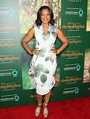 Garcelle Beauvais attends the world premiere Of Disney's 'Monkey Kingdom' at Pacific Theatres at The Grove on April 12 2015 in Los Angeles California