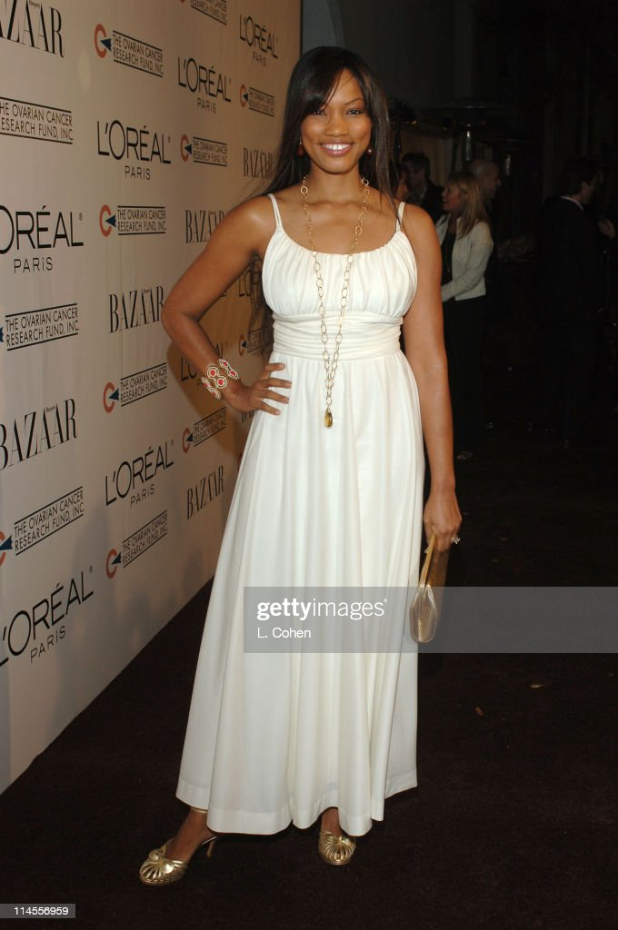 Garcelle Beauvais during L'Oreal Paris Presents 'As Seen in...Harper's Bazaar' to Benefit the Ovarian Cancer Research Fund Hosted by Eva Longoria and Milla Jovovich - Red Carpet at Lindbrook Gallery in Westwood, California, United States.
