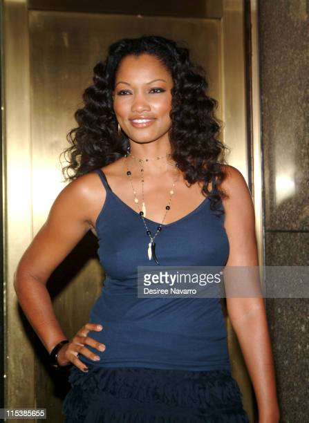 Garcelle Beauvais during Olympus Fashion Week Spring 2006 Baby Phat Arrivals at Radio City Music Hall in New York City New York United States