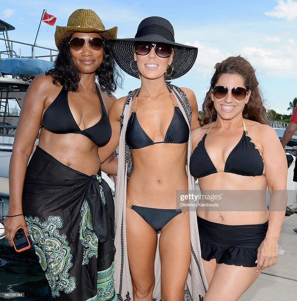 Garcelle Beauvais, Gretchen Rossi, and Marissa Jaret Winokur attend the Island Routes Caribbean Adventures during Day Two of the Sandals Emerald Bay Celebrity Getaway And Golf Weekend on September 28, 2013 at Sandals Emerald Bay in Great Exuma, Bahamas.