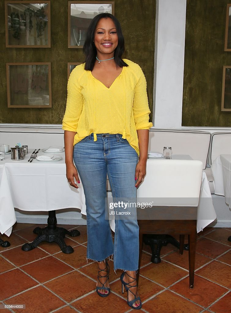 Garcelle Beauvais is seen taping Hollywood Today Live! for Mother's Day at Fig & Olive Melrose Place on April 28, 2016 in West Hollywood, California.