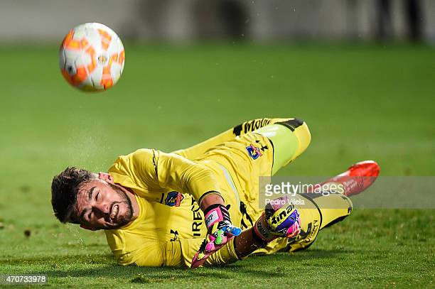 Garces of Colo Colo a match between Atletico MG and Colo Colo as part of Copa Bridgestone Libertadores 2015 at Independencia Stadium on April 22 2015...