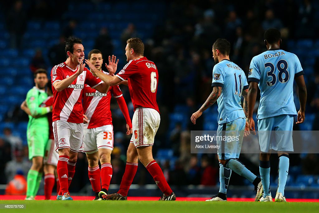 Manchester City v Middlesbrough - FA Cup Fourth Round : News Photo