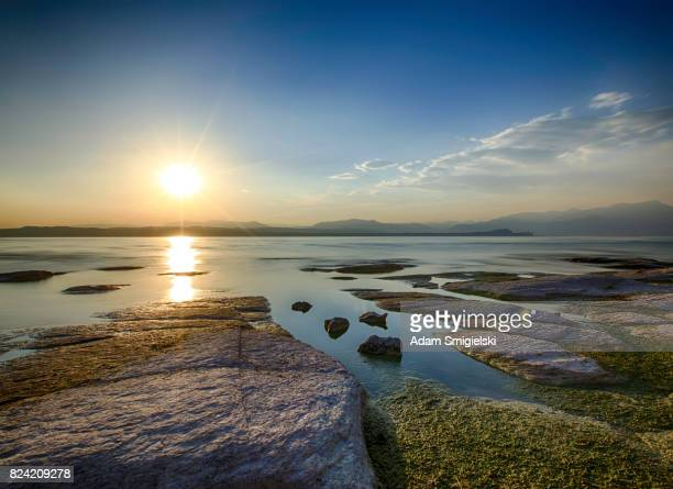 See Garda bei Sonnenuntergang