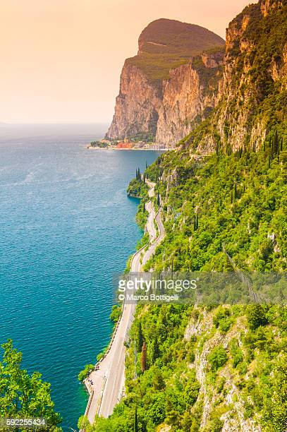Garda lake, Lombardy, Italy. Coastal road.