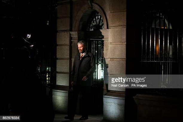 Garda Whistleblower John Wilson leaving the public accounts committee hearing in Leinster House in Dublin