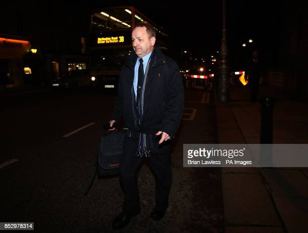 Garda Whistleblower Maurice McCabe leaving the public accounts committee hearing in Leinster House in Dublin