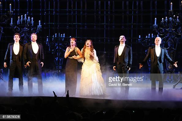 Gardar Thor Cortes John Owen Jones Sierra Boggess Celinde Schoenmaker Ben Forster and Scott Davis perform onstage at 'The Phantom Of The Opera' 30th...