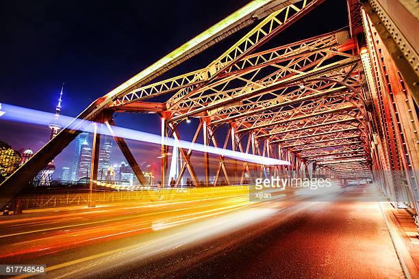Garten Brücke von Shanghai bei Nacht