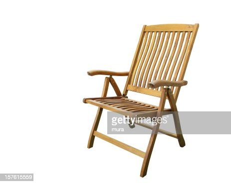 Garden chair on the white background